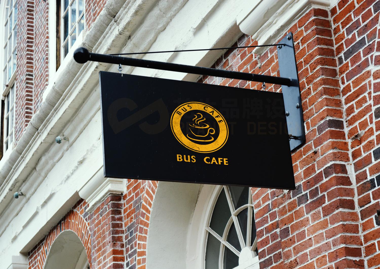 巴士咖啡VI形象设计|广州咖啡VI形象设计-花生品牌设计